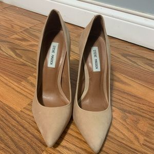 Steve Madden nude size 9 block heels
